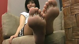cherry asian feet - Kanae