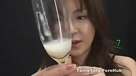 Japanese Cum Swallowing 9 Loads in a Glass Minami Suzuki