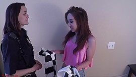 Mila Jade Arrested and bound in handcuffs by officer AliceDia