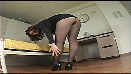 Japanese Av Model Shame ! Voyeur : Hairy Pussy Through Pantyhose ! 13