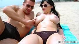 Big Tits On The Beach - Anastasia Brill