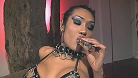 Shemale Cigar Smoking Dom