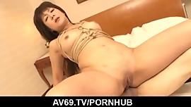 Shino Nakamura anal fucked and made to swallow jizz