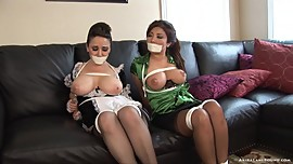Mistress and maid kept out of the way