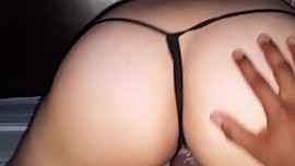 Asian GF rides cock reverse cowgirl