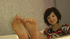 Cute Asian Girl's Feet