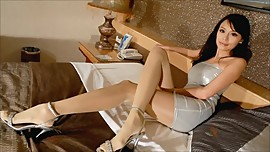 Asian sexy pantyhose legs and miniskirts