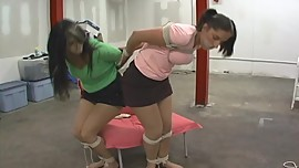 Valerie and Nastasia: Tied and Tightly Gagged pt2