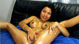 Hot sexy messy asian babe