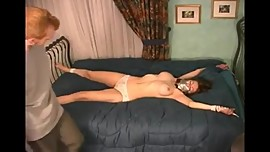 girl bondage in bed