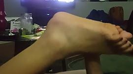 Wifey fucks me with her feet