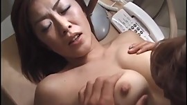 Yukari Sakurada pretty Asian milf gets her wet pussy licked