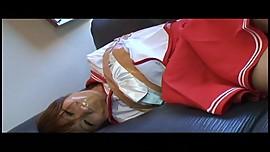 Schoolgirl tape up