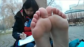 Asian HS Girl's Feet
