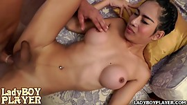 Anal loving Asian ladyboy Ana sensual deep throat sucking