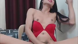 Sexy Shemale Releases Hot Thick Jizz