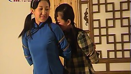 2 Chinese Girls Dancing In Bondage