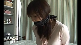 Japanese girl tied