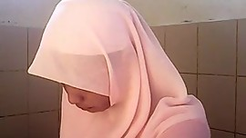 Spycam asian White hijab girl