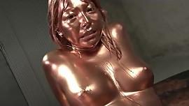 Painted Asian girl fucking
