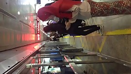 Hijabi Ass Touch On The LRT In KL, Malaysia (part 1)