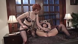 Hot Redhead Lesbian Plays With Her Asian Pet