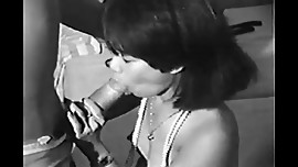 Vintage - Asian girl sucking on a gigantic dick black
