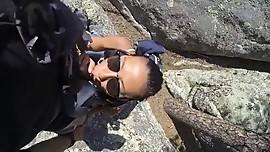 Blowjob along the hike trail